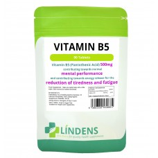 Lindens Vitamin B-5 500mg 90 tablets